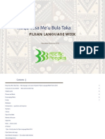 ''Noqu Vosa Me'u Bula Taka - Fijian Language Week'' (Ministry for Pacific Peoples, 2016)