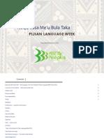 ''Noqu Vosa Me'u Bula Taka - Fijian Language Week'' (Ministry for Pacific Peoples, 2016)