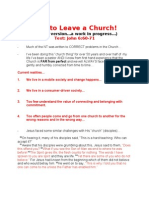 How to Leave a Church!