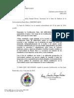Certificacion 129 2009-10 Excencion de Matricula