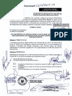 PL0220320171201 - Ley que modifica el artículo 88 de la Ley 30220, Restablece los derechos del docente universitario.pdf