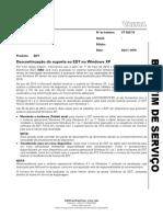 BS 32_16 - Descontinuao Do Suporte Ao EDT No Windows XP