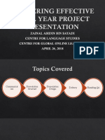 Delivering Effective Final Year Project Presentation