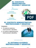 2. El Contexto Administrativo Restricciones y Desafios