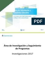 Área Investigación - Plan Investigaciones 2017