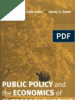 37550657 Public Policy and the Economics of Entrepreneurship