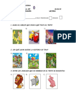 Evaluación Comprensión Lectora Kinder