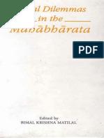 Matilal, Bimal Krishna (ed.)-Moral dilemmas in the Mahābhārata-Indian Institute of Advanced Study (1989)