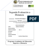 Segunda Evaluación a Distancia GE