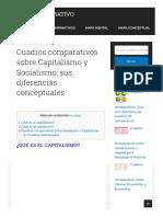 Cuadros Comparativos Sobre Capitalismo y Socialismo_ Sus Diferencias Conceptuales _ Cuadro Comparativo