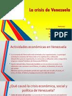 La Crisis Económica de Venezuela
