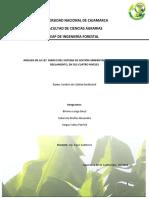 análisis de  la ley marco del sistema nacional del gestión ambiental