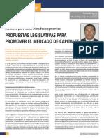 PROPUESTAS LEGISLATIVAS PARA  PROMOVER EL MERCADO DE CAPITALES