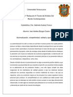 Ensayo Automatización, Competitividad, Calidad y Oportunidad