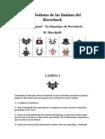 El Simbolismo de Las Láminas Del Rorschach