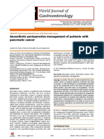 anaesthesiology for pancreatic cancer