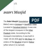 Babri Masjid - Wikipedia