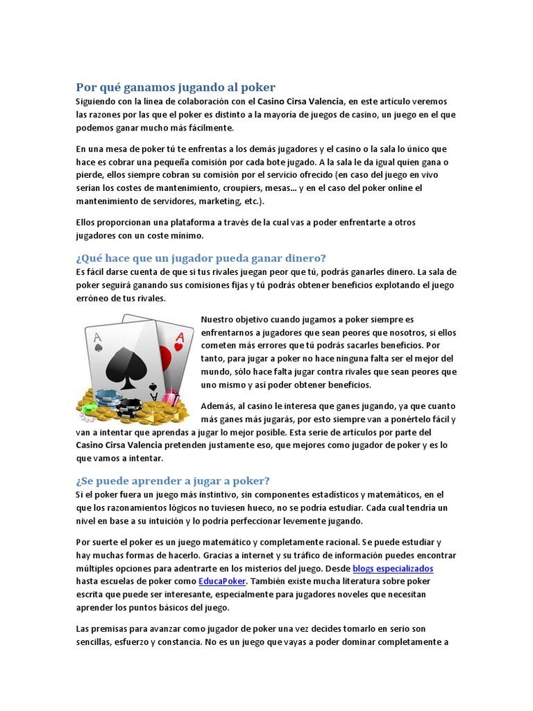 5 Casino Cirsa Valencia Por Que Se Gana Jugando Al Poker