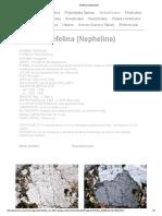 Nefelina (Nepheline)