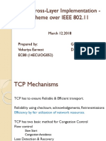 Implementation of cross layer scheme for TCP efficiency improvement