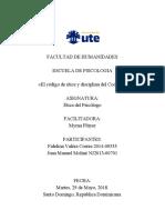 Análisis del Código de Etica del Colegio Dominicano de Psicólogos