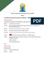 Programa Encuentro y Congreso