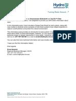 Information Pack - Up-flo Filter Downstream Defender - Hydro International