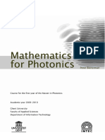 Mathematics for Photonics 2009-2010