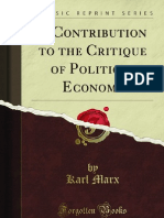 A Contribution to the Critique of Political Economy - 9781451002232