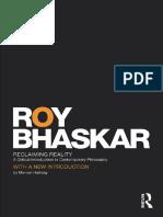 Roy Bhaskar - Reclaming Reality