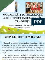 11-13-Modaliti de Realizare a Educaiei Parentale n Grdinia a Vrtei Inspector Ed Timpurie Jud Alba