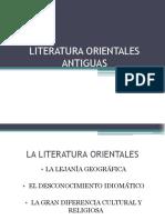 Literatura Orientales Antiguas Exponer