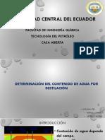 Determinacion de Agua Por Destilacion