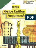 207199522 Libro Sintesis de Los Estilos Arquitectonicos