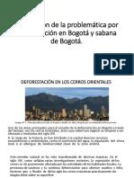 Descripción de La Problemática Por Deforestación en Bogotá