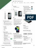 Apple - iPhone 4 - Tamanho, peso, duração da bateria e outras especificações