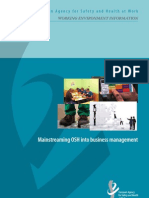 Mainstreaming Osh Business