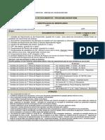 Relacao documentos necessários para PROGRAMA MORAR BEM RII
