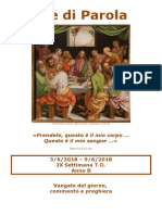 Sete di Parola - Corpus Domini e IX Settimana T.O., anno B.doc
