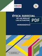 Ética Judicial. de Las Reglas a Las Actuaciones - Varios