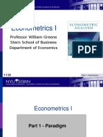 Econometrics I 1