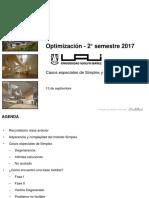 OPT - 2016-2-08 - Casos Especiales de Simplex y Fase I y Fase II VUP