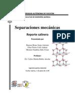 Separaciones mecanicas salinera
