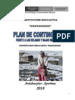 Plan de Contingencia Frente a Heladas