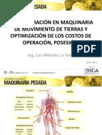 06. Optimización de los Costos de Operación, Posesión y Administración en Maquinaria de Movimiento de Tierras - Ing. Luis Méndez La Torre (2).pdf