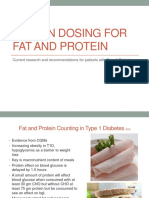 insulin dosing for fat and protein