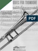 Joseph Viola - Cfjfhord Studies for Trombone