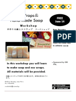 Eco Wrap and Soap Making Workshop Flyer