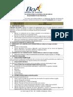 OBAHCPE.050.18 Técnico Mantenimiento II CBB