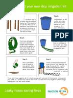 Drip Irrigation Sheet